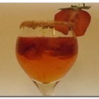 Pezsgő eperrel és Neroli aromavízzel
